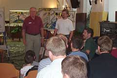 Seminar student practicing his testimony
